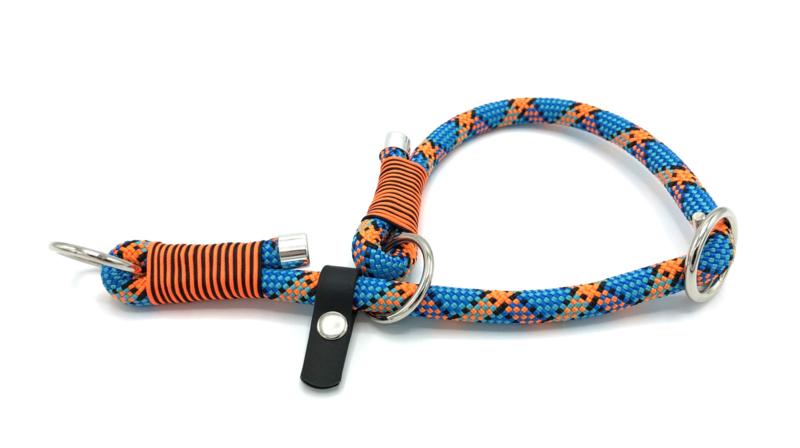 Sliphalsband (oranje-zwart-blauw)