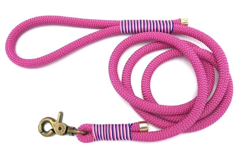 Hondenlijn touw (roze)