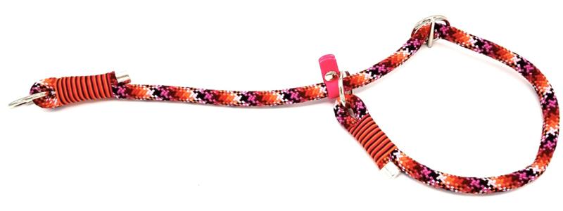 Sliphalsband  (Licht roze-Roze-Oranje-Rood-Zwart)