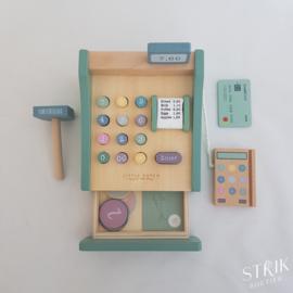 Houten kassa met scanner (met of zonder naam)