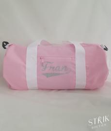 Sporttas roze met naam