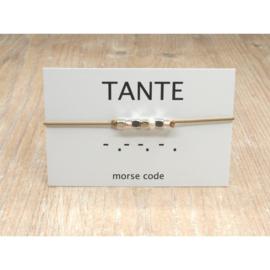 Armband morsecode TANTE