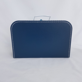 Koffertje XL marineblauw met naam of tekst