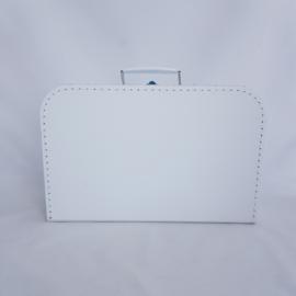 Koffertje XL wit met naam of tekst
