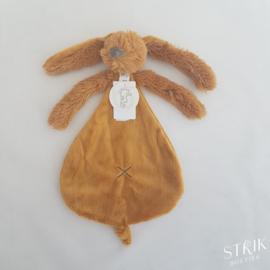 knuffeldoekje/doudou konijn Richie Rabbit oker (met of zonder naam)
