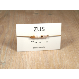 Armband morsecode ZUS