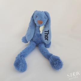 Knuffel konijn 'Richie Rabbit' jeansblauw (met of zonder naam)