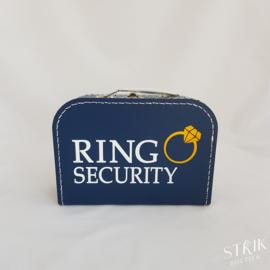 Koffertje marineblauw met naam of tekst