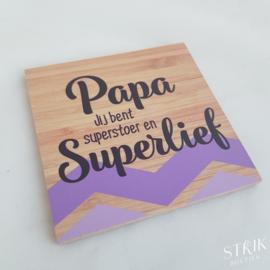 Onderzetter 'Papa'