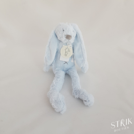 Knuffel klein konijn 'Richie Rabbit' lichtblauw (met of zonder naam)