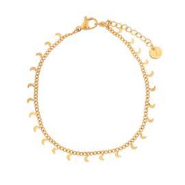 Armband maan goud/zilver