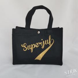 Kleine draagtas 'Superjuf'