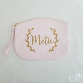 Tasje krans 'Metie/Meter/Mama/Oma/Juf/Zus/Tantie/...'