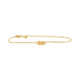 Armband 'Leaf'  (goud / zilver)
