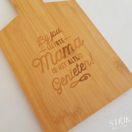 Broodplankje bamboe 'Mama'