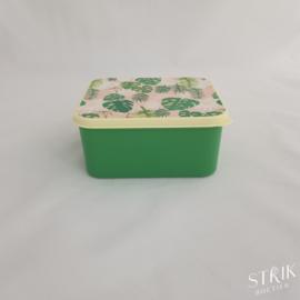 Brooddoos / lunchbox tropical (met of zonder naam)