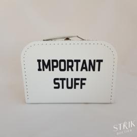Koffertje wit met naam of tekst