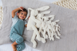 Knuffel konijn 'Richie Rabbit' ivoor (met of zonder naam)