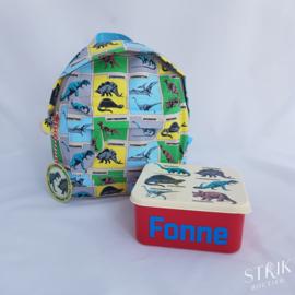 Brooddoos / lunchbox dinosaurus (met of zonder naam)