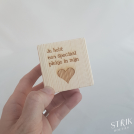 Theelichtje 'Je hebt een speciaal plekje in mijn hart'