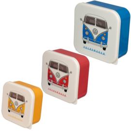 Snackboxen XL / snackdoosjes set 'Volkswagen'