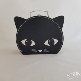Koffertje groot 'zwarte kat' (met of zonder naam)