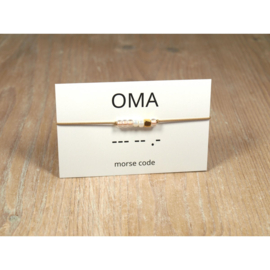 Armband morsecode OMA