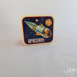 Brooddoos / lunchbox spaceboy (met of zonder naam)