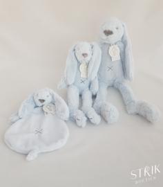 knuffeldoekje/doudou konijn Richie Rabbit lichtblauw (met of zonder naam)