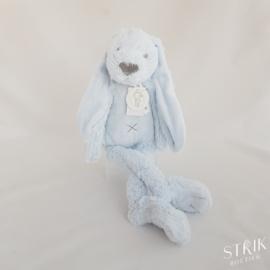 Knuffel konijn 'Richie Rabbit' lichtblauw (met of zonder naam)