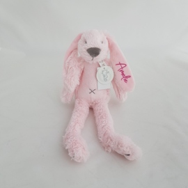Knuffel klein konijn 'Richie Rabbit' roze (met of zonder naam)