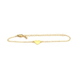 Armband 'Hartje' Birambi  (goud / zilver)