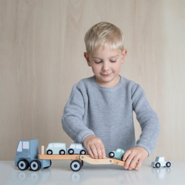 Houten truck (met of zonder naam en eventueel geboortegegevens)