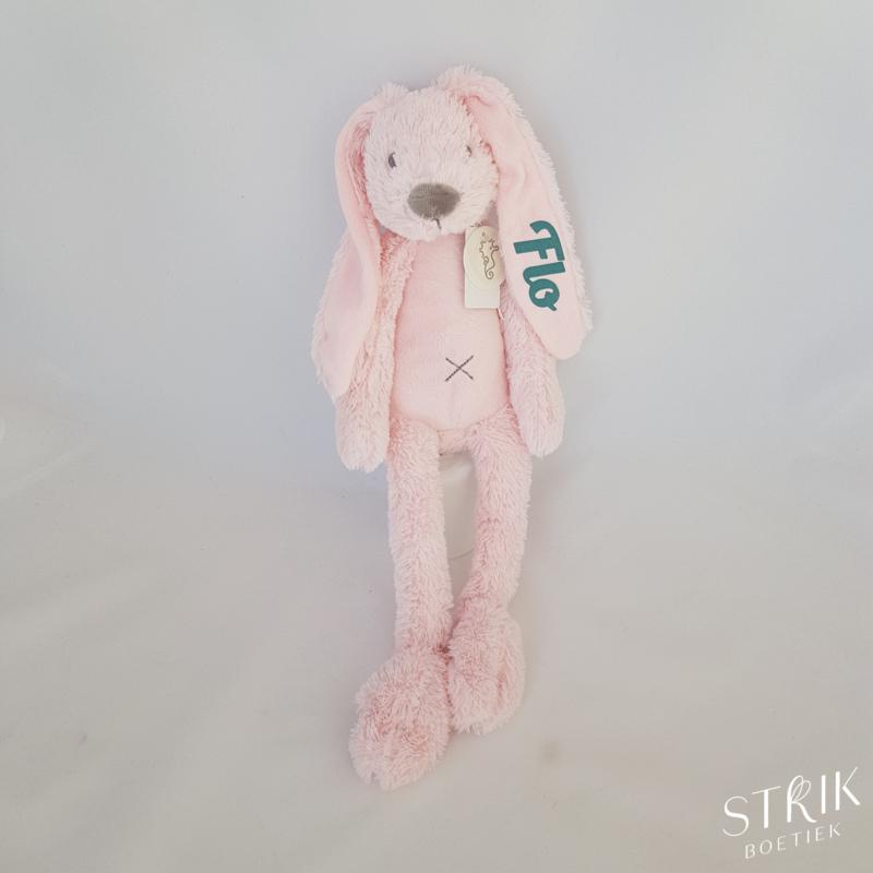 Knuffel konijn 'Richie Rabbit' roze (met of zonder naam)