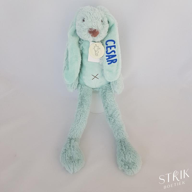 Knuffel konijn 'Richie Rabbit' mint (met of zonder naam)