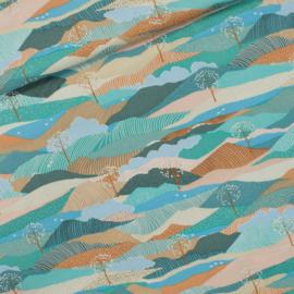 Cotton Gabardine Twill Landscape