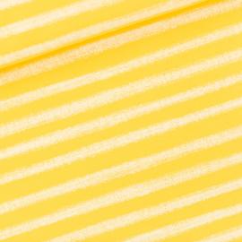 Chalk Stripes Habanero Yellow French Terry SYAS