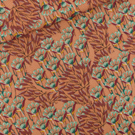 Viscose Gilly Flowers Sunburn Brown SYAS