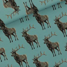 Deer Trellis Blue French Terry SYAS