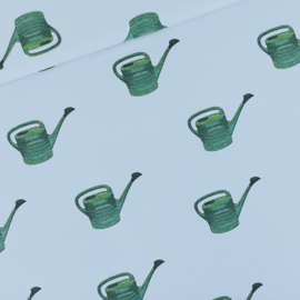 Watering Cans Fog Blue French Terry SYAS