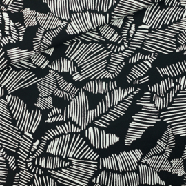 Winter Rose Cotton Canvas Black SYAS