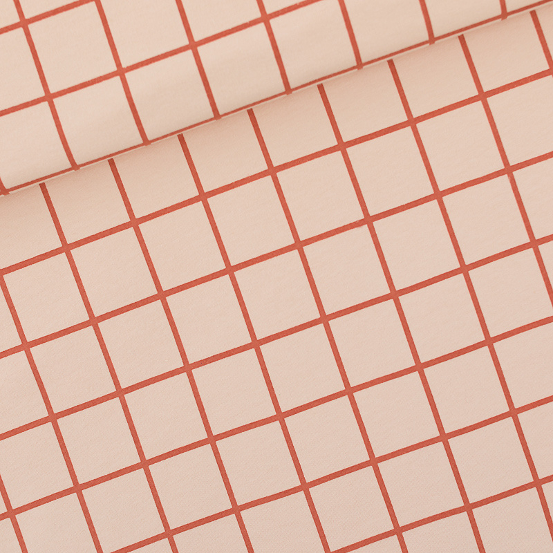 Grid Evening Pink French Terry SYAS