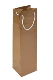 Luxe papieren wijntas met handvat