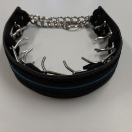 Kunststof cover M, zwart/blauw