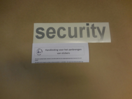 "Sticker ""security"""