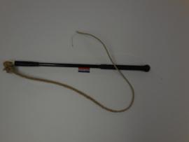Zweep zwart 40cm