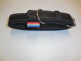 Double leather collar 3cm