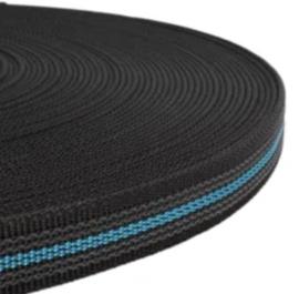 Griplijn new zwart/licht blauw