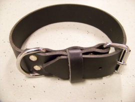 Single leather collar 4x60cm