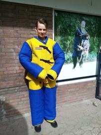 Frans pak, geel-blauw